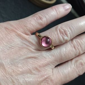Sugarfix gold tone pink ring